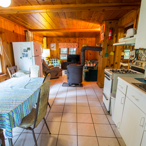 Cottage Dining Area and Kitchen